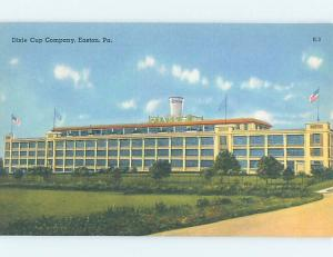 Unused Linen DIXIE CUP COMPANY FACTORY Easton Pennsylvania PA c6833