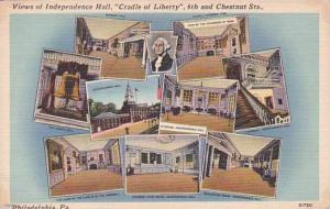 Pennsylvania Philadelphia View Of Independence Hall Cradle Of Liberty 6th And...