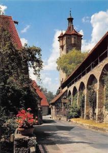 Rothenburg ob der Tauber Klingentor Strasse Turm