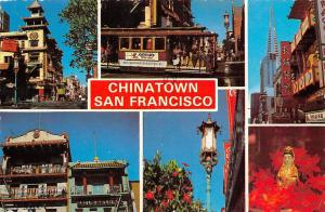 USA San Francisco Chinatown Houses Market Place Tram