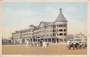 BEACH HAVEN NEW JERSEY ENGLESIDE HOTEL AND TENNIS COURTS POSTCARD
