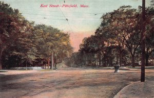 East Street, Pittsfield, Massachusetts, Early Postcard, Unused