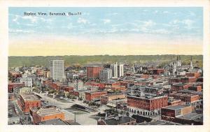 Savannah Georgia~Skyline View~Downtown Skyscrapers~Business~1920s Postcard