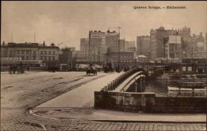 Melbourne Australia Queens Bridge c1910 Postcard