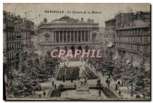 Old Postcard Marseille Square De La Bourse
