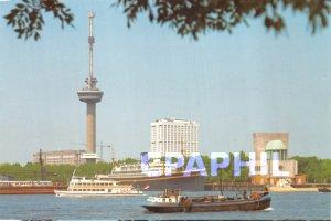 Postcard Modern ROTTERDAM / HOLLAND Platforms 100 m / 185 m Tower Space Ships