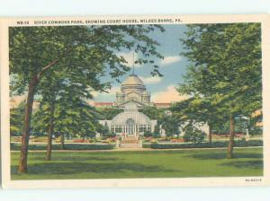 Unused Linen COURT HOUSE Wilkes-Barre Pennsylvania PA n4524
