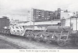 Postal 62467 : Girona. Tender de carga en pequeña velocidad