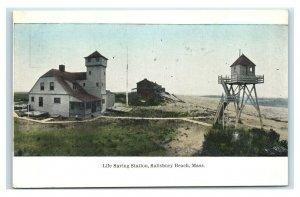 Postcard Life Saving Station, Salisbury Beach, Mass Y65