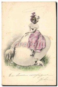 Old Postcard Fantaisie Lamb