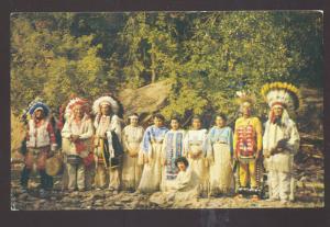 BELLE FOURCHE SOUTH DAKOTA SIOUX INDIAN INDIANS VINTAGE POSTCARD SEDALIA MO.
