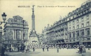 Bruxelles, Belgium, België, la Belgique, Belgien Place de Brouckere et Monum...