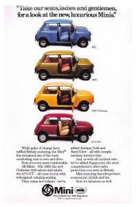 NEW Postcard Leyland Mini Advertisement 850 1000 1100 Clubman 1275GT Repro H28