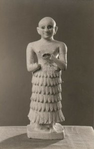 RP, PHILADELPHIA, PA 1930-40s; University Museum, Limestone Statuette, Khafaje