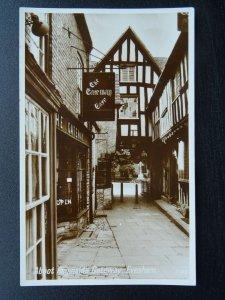 Worcestershire EVESHAM Abbot Reginalds Gateway & GATEWAY CAFE - Old RP Postcard