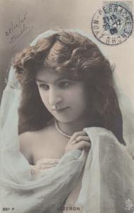 TUCK series 887P, Portrait of Woman, LOZERON, 1906