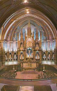 Main Altar , Notre Dame Church , MONTREAL , Quebec , Canada , 50-60s View #3