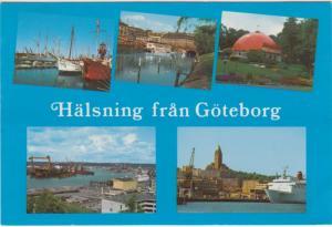 Halsning fran Goteborg, 1980 used Postcard