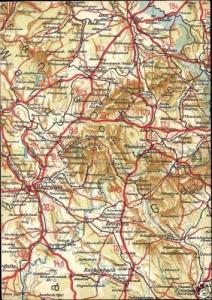 germany, BAYREUTH, Bavaria, MAP Postcard (1940s)