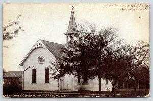Phillipsburg KS~Kirwin Resident Attends Methodist Church Some~Vergeboard~1908