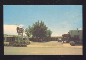 WEST HOLBROOK ARIZONA ROUTE 66 WESTERN MOTEL OLD 1950's CARS POSTCARD