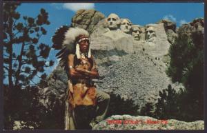 Black Elk,Mount Rushmore,SD Postcard