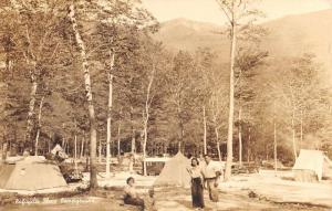 Franconia New Hampshire Lafayette Place Campground Real Photo Postcard K93444