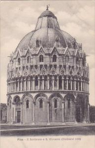 Italy Pisa Il Battistero O Saint Giovanni