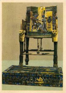 King Tutankhamun´s Treasures (1353-1344 B.C.), The King's Throne Of Carved W...