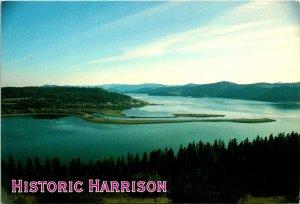Historic Harrison ID Lake Coeur d'Alene Postcard unused (16715)