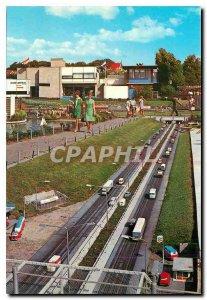 Postcard Modern Miniatuurstad Madurodam Den Haag Autoweg
