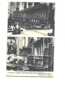 St Martin's Cathedral Before, After Bombardment, Ruins, Paris France