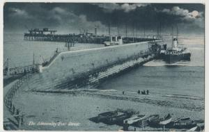 Kent; The Admiralty Pier, Dover, By Night PPC, Unused, Note Paddle Steamer