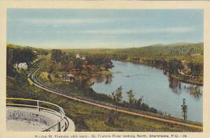 Riviere St. Francois Cote Nord, St. Francis River Looking North, Sherbrooke, ...