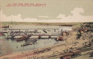 Rhode Island Providence View From Fort Hill Showing Four Bridges Across The S...