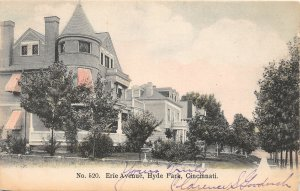 G32/ Cincinnati Ohio Postcard c1910 Kraemer Art Erie Avenue Homes
