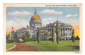 Jackson Mississippi MS State Capitol Building Vintage Linen Postcard Curteich