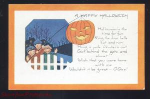 A HAPPY HALLOWEEN PICKET FENCE PUMPKIN WHITNEY MAKE VINTAGE