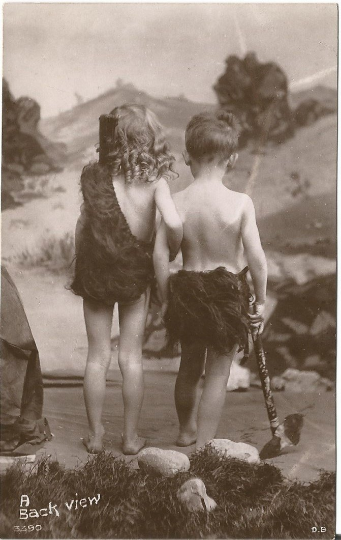 Cave Children from Davidson Bros Real Photographic Series London Adorable Kids