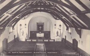 Wisconsin Bloomington St Marys Church Interior From Balcony Artvue