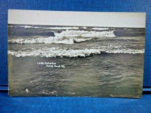 Circa Early 1900's Lake Ontario Sodus Point, New York Waves Crashing RPPC
