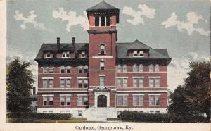 Georgetown Kentucky~Sisters of Visitation Academy~Cardome Postcard 1910