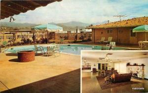 1950s Arrowhead Mobile Home Park pool interior Glendale California 7778