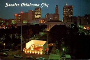 Oklahoma Oklahoma City Skyline At Night