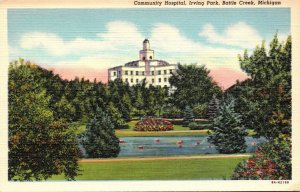 Michigan Battle Creek Irving Park Community Hospital Curteich