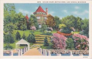Wisconsin Lake Geneva Ceylon Court Maytag Home 1939 Curteich