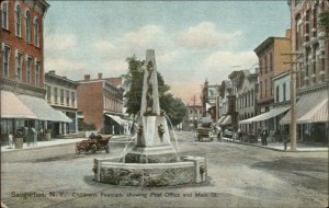 Saugerties NY Childrens Fountain c1910 Postcard