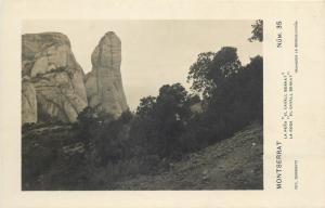 Spain Montserrat - La Roca El Cavall Bernat photo postcard
