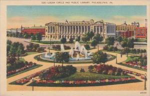Pennsylvania Philadelphia Logan Circle And Public Library