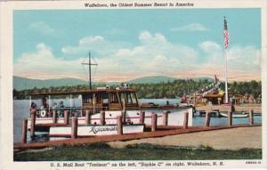 New Hampshire Wolfeboro U S Mail Boat Tonimar On Left & Sophie C On Right...